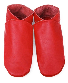 Chaussons en cuir Adultes Rouges