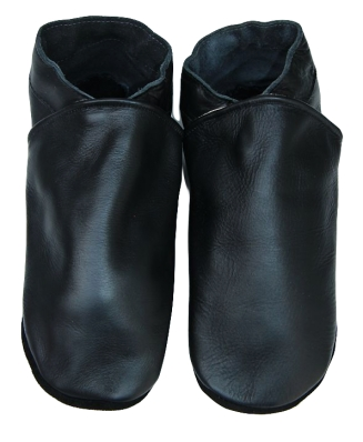Chaussons en cuir adulte.