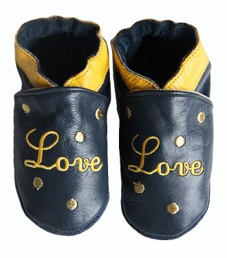 chaussons bébé cuir