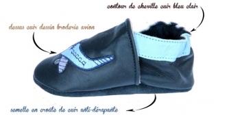 chausson cuir