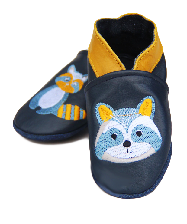 Chaussons en cuir Pandi Panda