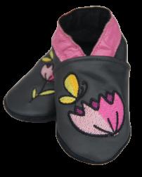 chaussons en cuir Tulipia