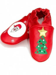 Chaussons en cuir Noël.