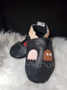 Chaussons en cuir Pacman