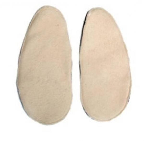 Option semelle polaire dans vos chaussons en cuir.